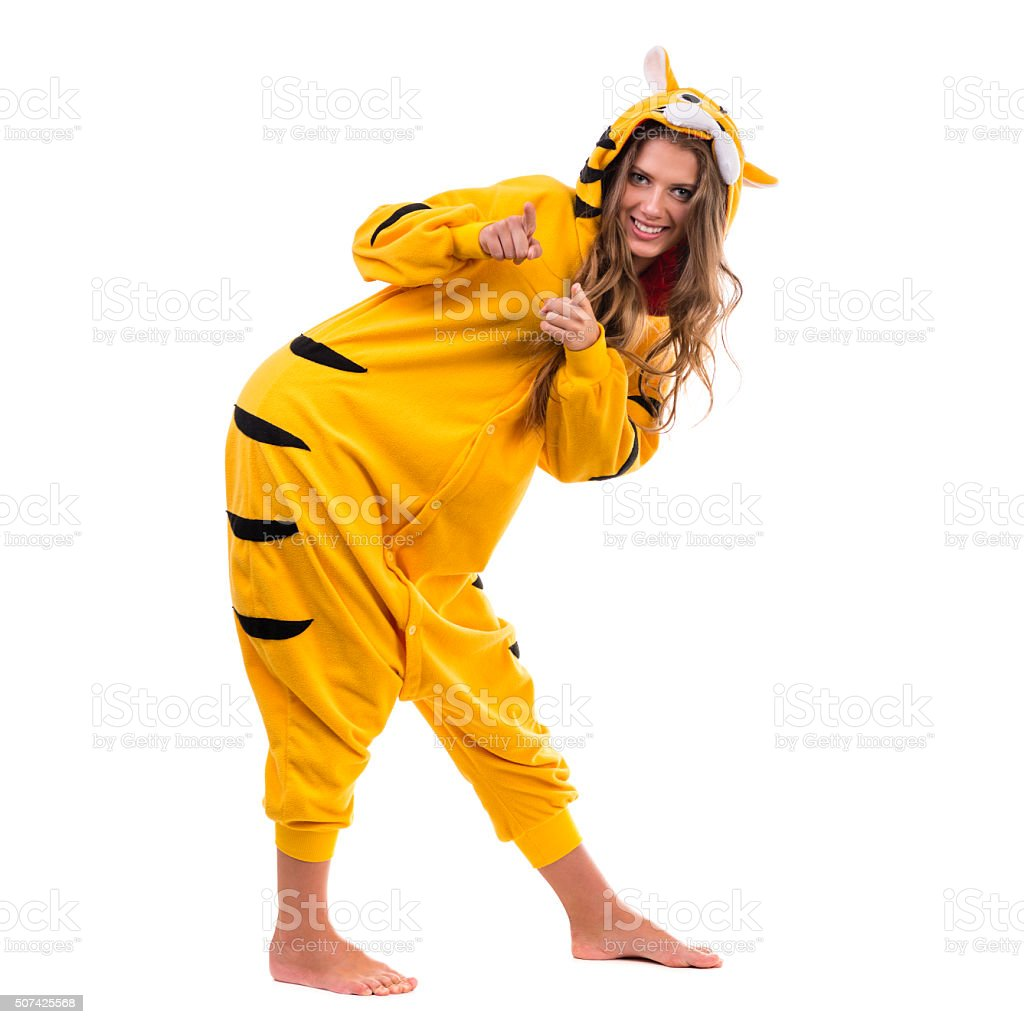 Girl Dressed As A Tiger Stock Photo - Download Image Now
