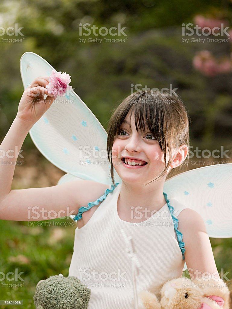 A girl dressed as fairy 免版稅 stock photo