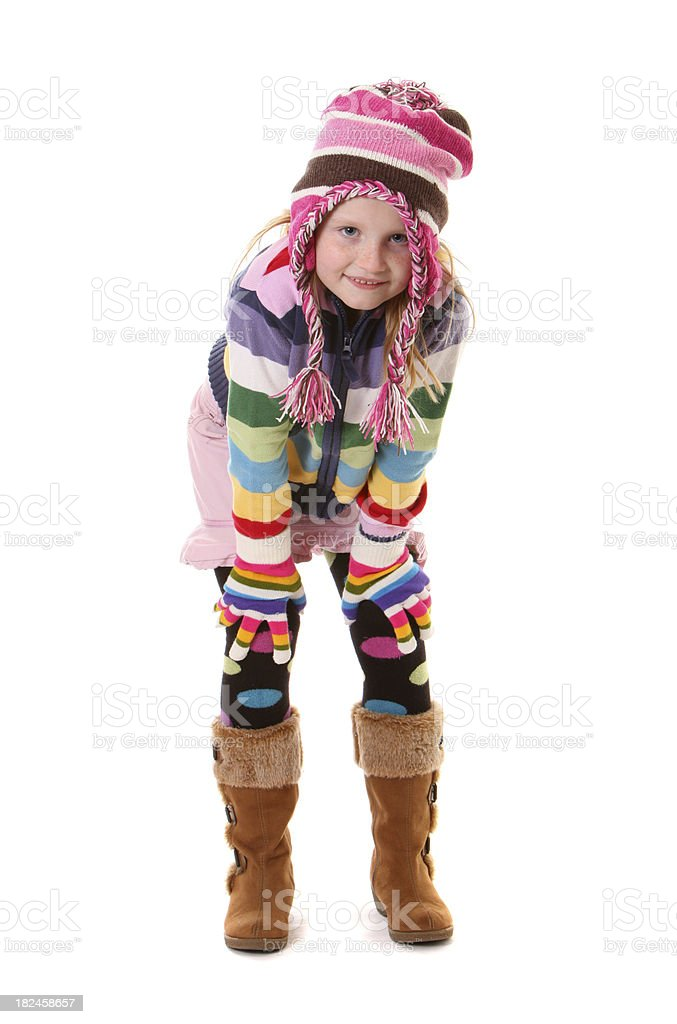 girl dressed for winter royalty-free stock photo