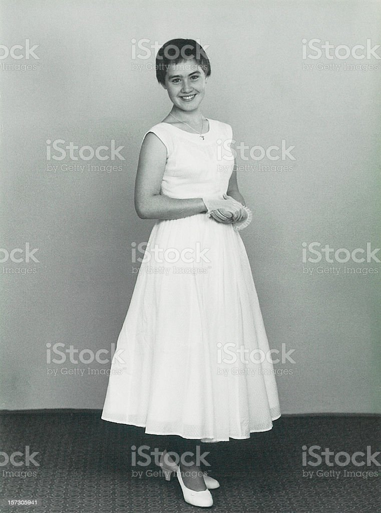 Girl dressed up royalty-free stock photo