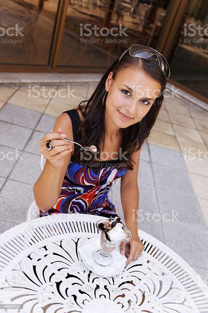 girl eats ice cream royalty-free stock photo