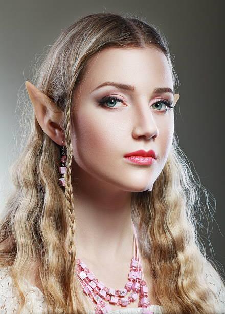 mädchen elf princess magische - elfenkostüm damen stock-fotos und bilder