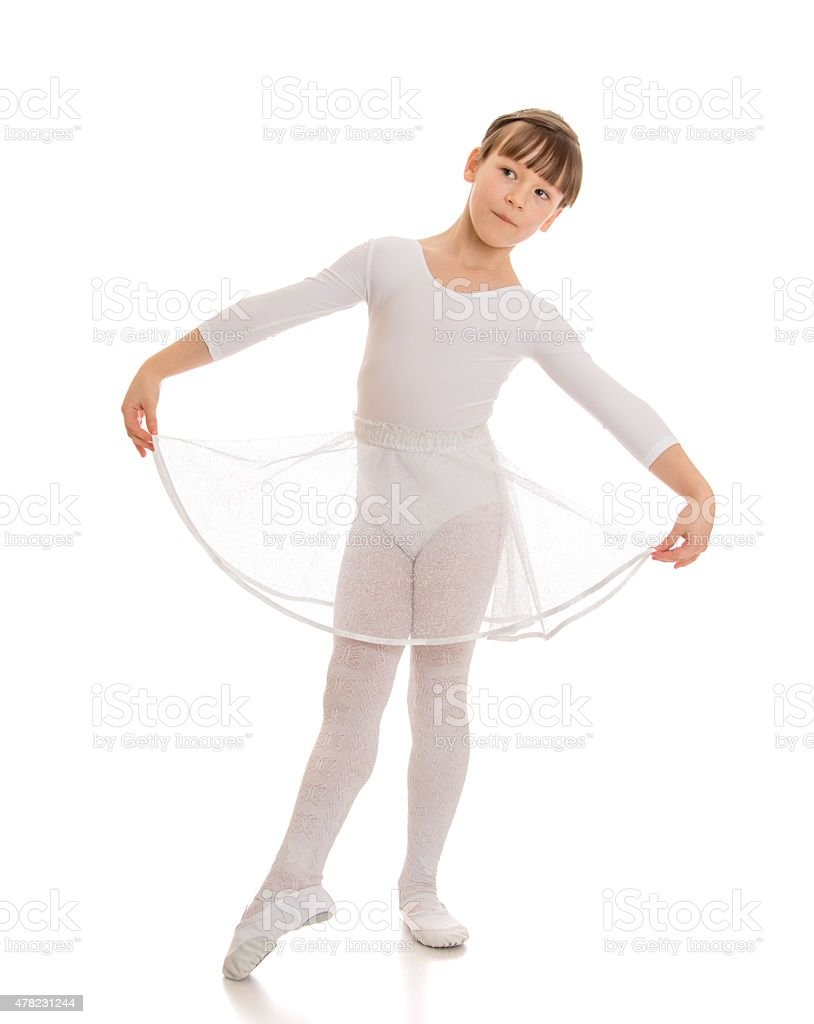 Girl embroider pattern thread stock photo