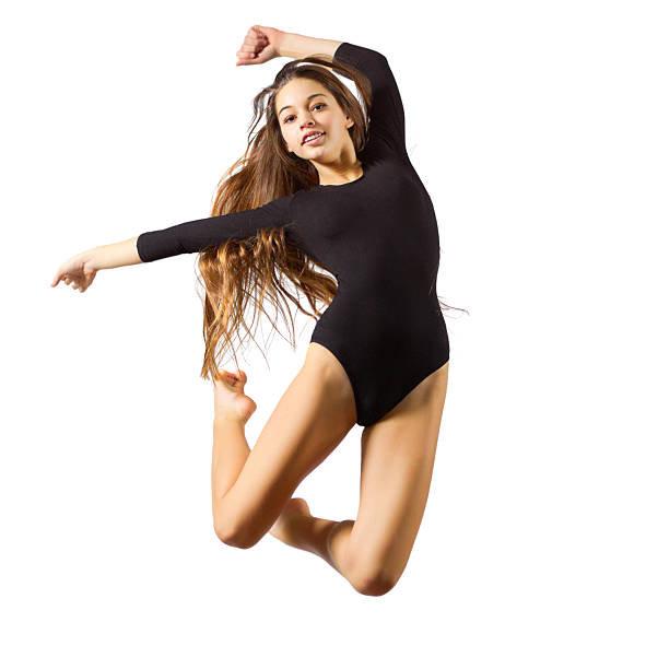 girl engaged art gymnastic - leotard stock pictures, royalty-free photos & images