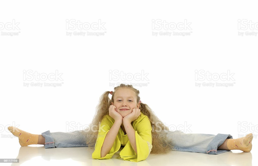 girl engaged gymnastics royalty-free stock photo