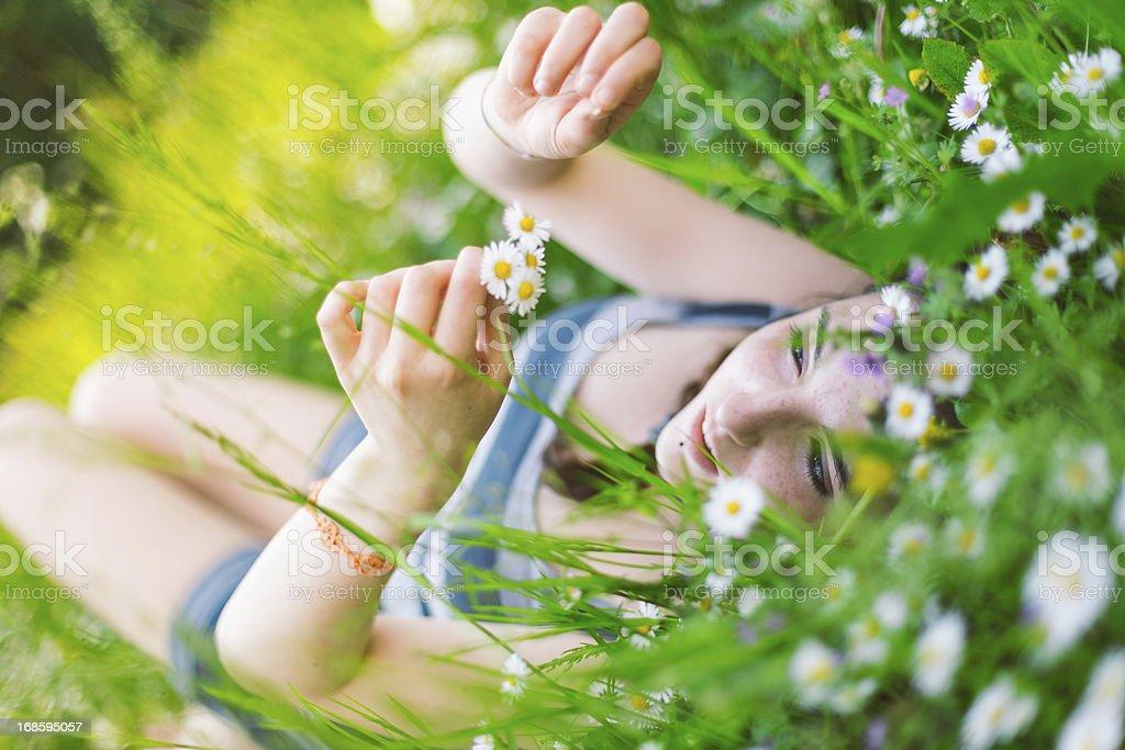 Girl enjoy the nature royalty-free stock photo