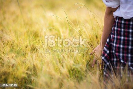 523172398istockphoto Girl enjoying in a countryside scenic 589449310