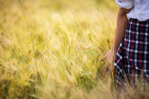 523172398 istock photo Girl enjoying in a countryside scenic 589449310