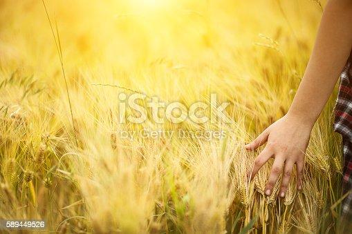 523172398istockphoto Girl enjoying in a countryside scenic 589449526