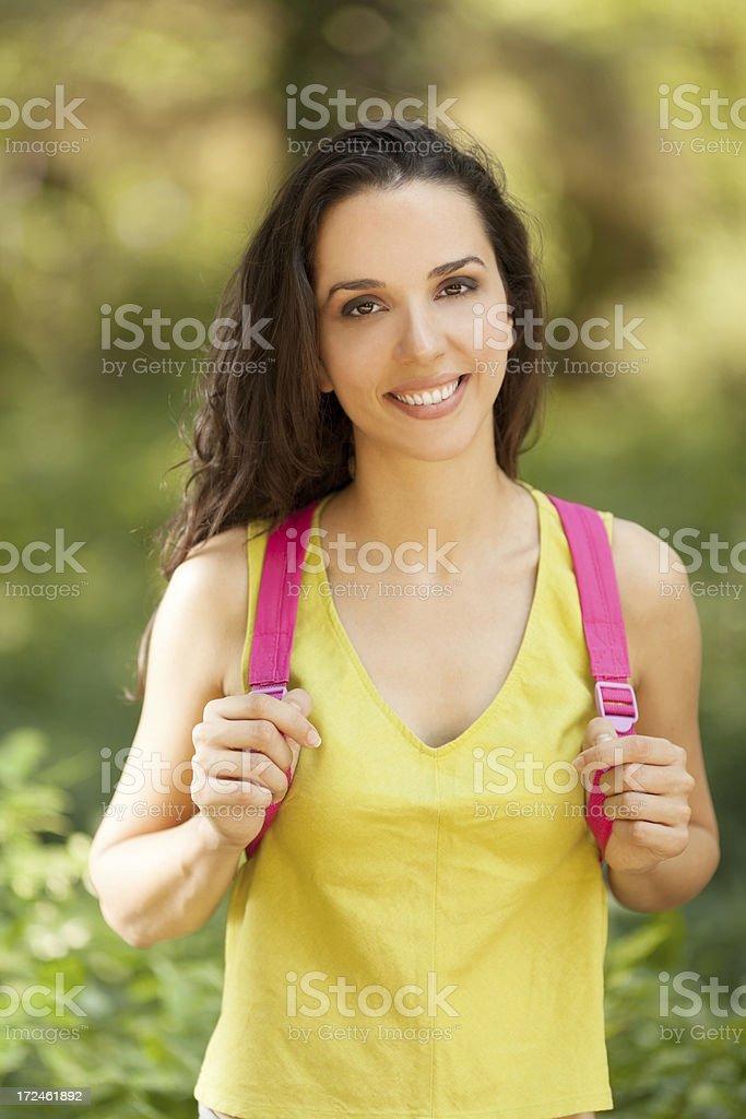 Girl enjoying nature royalty-free stock photo