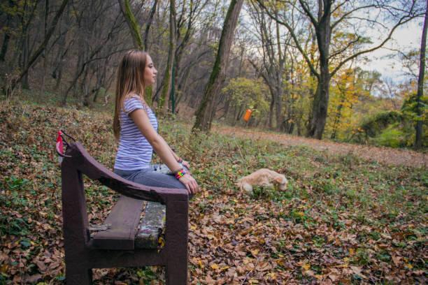 mädchen outdoor-sportarten - hunde strumpfhosen stock-fotos und bilder