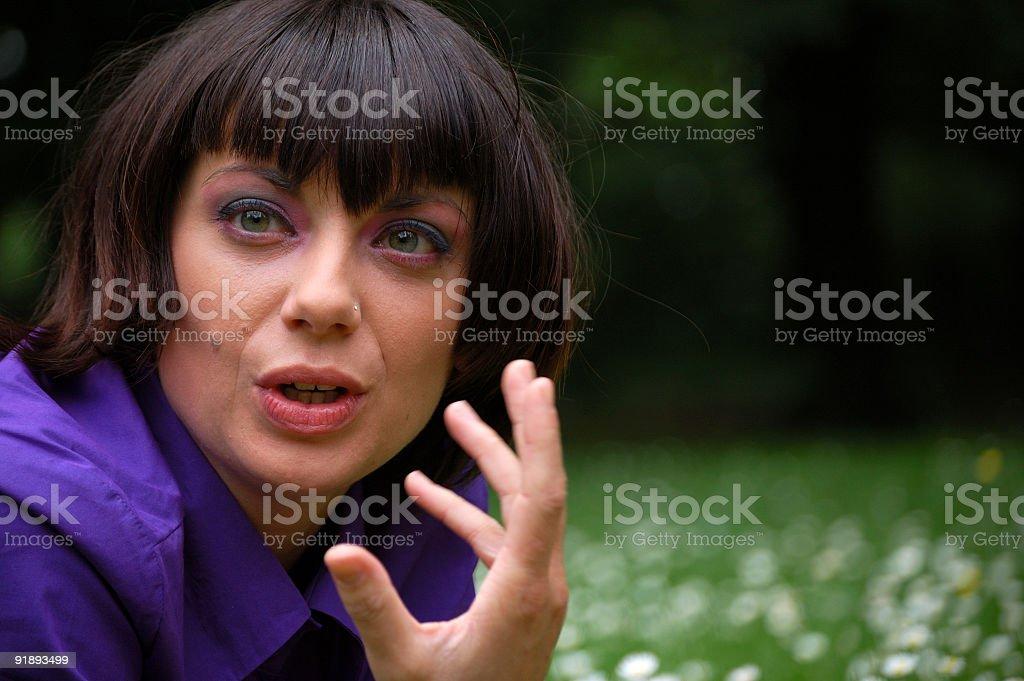 Girl Explaining royalty-free stock photo