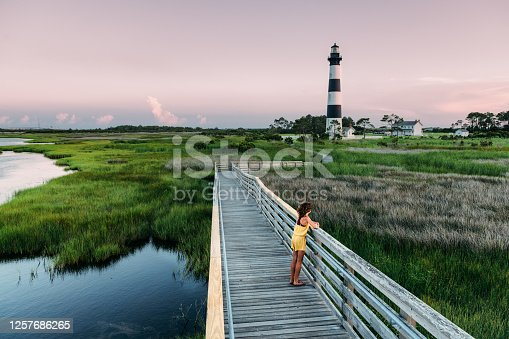 Girl Exploring the Outer Banks