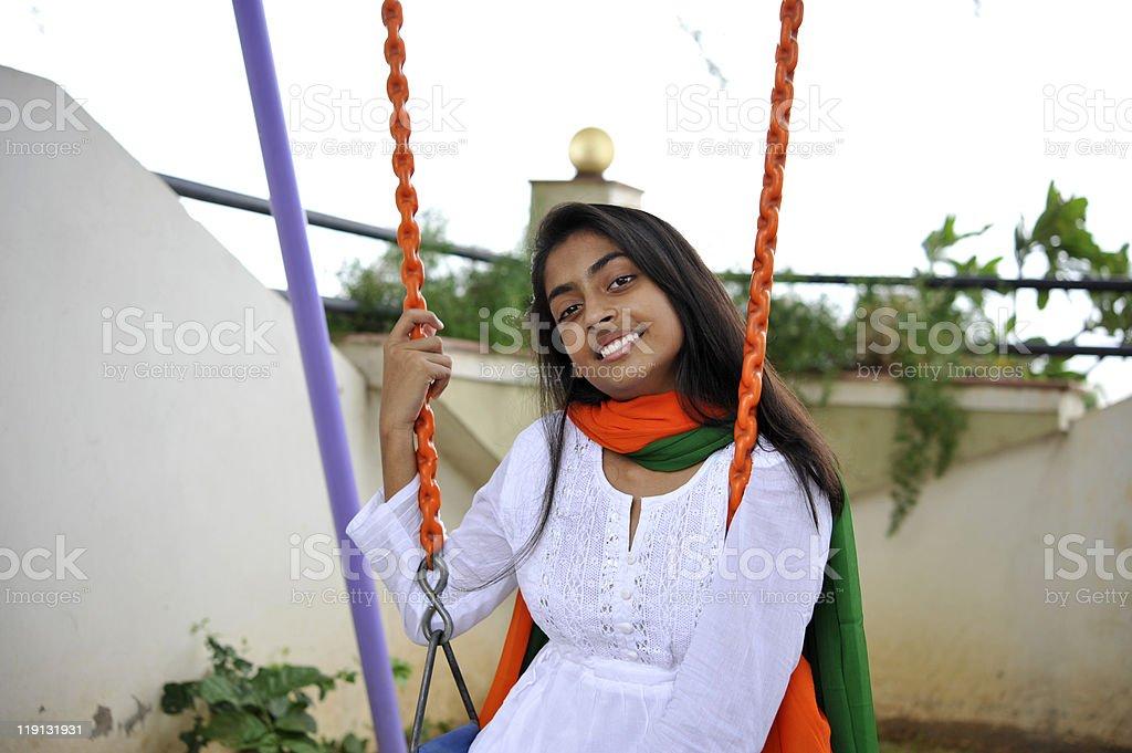 girl expressing freedom royalty-free stock photo