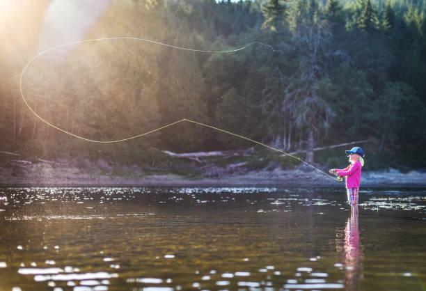 Mädchen fischen – Foto