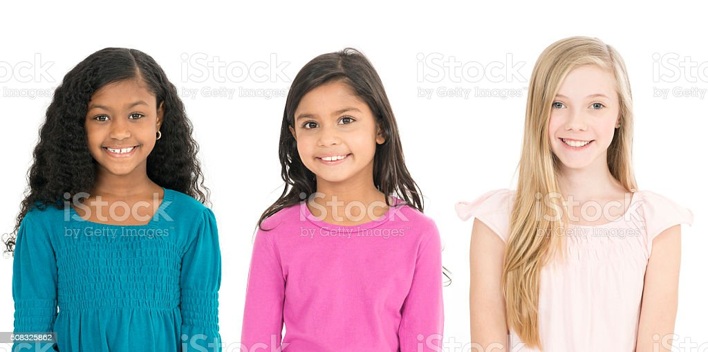 Girl Friends Standing Together stock photo