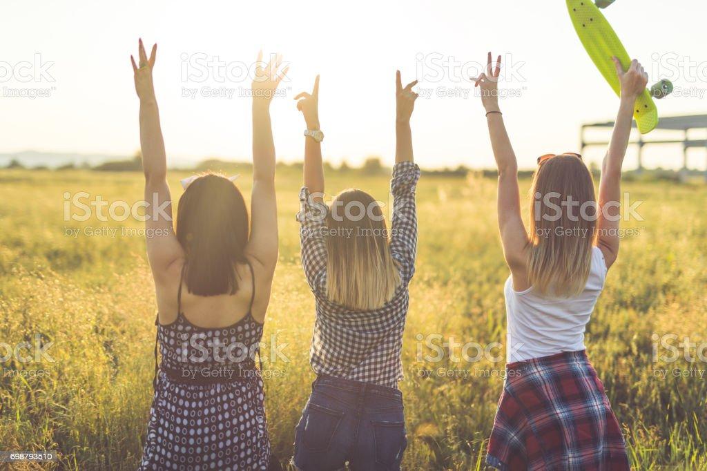 Girl friendship stock photo
