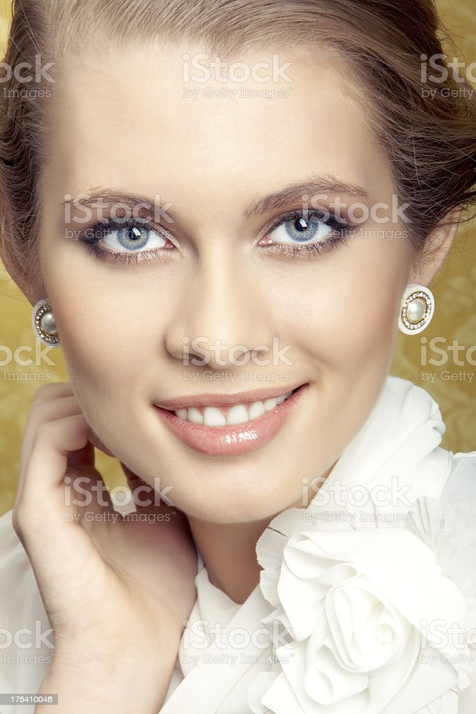 Girl from high society stock photo