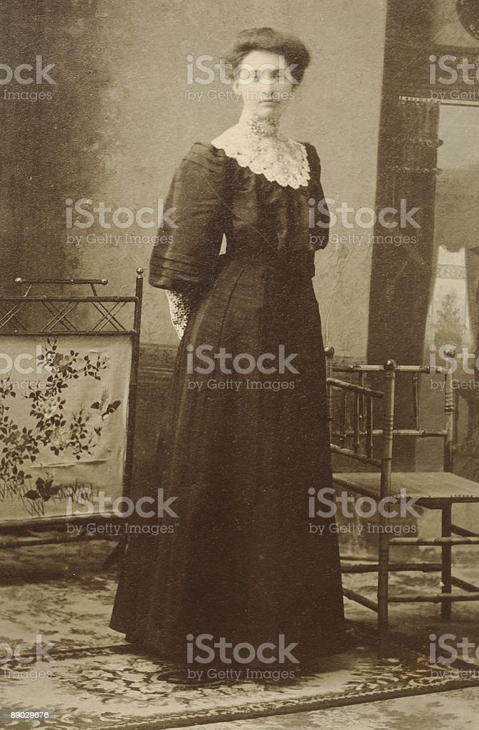 Girl from late 1800's royalty-free stock photo