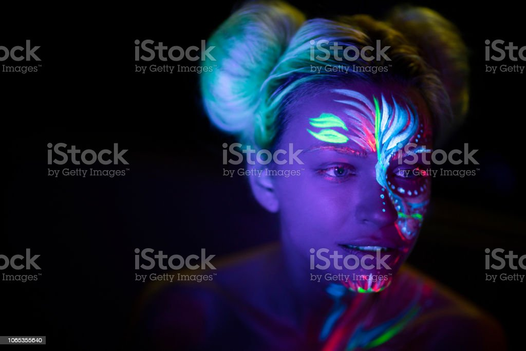 Girl From The Future stock photo