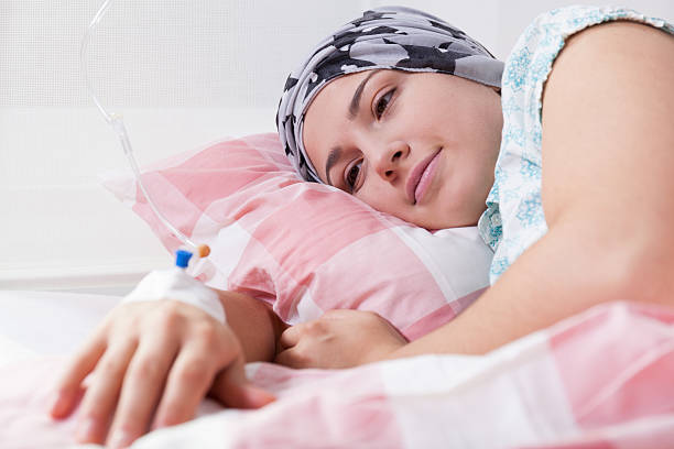 Girl full of hope during chemotherapy Young girl full of hope during chemotherapy chemotherapy cancer stock pictures, royalty-free photos & images