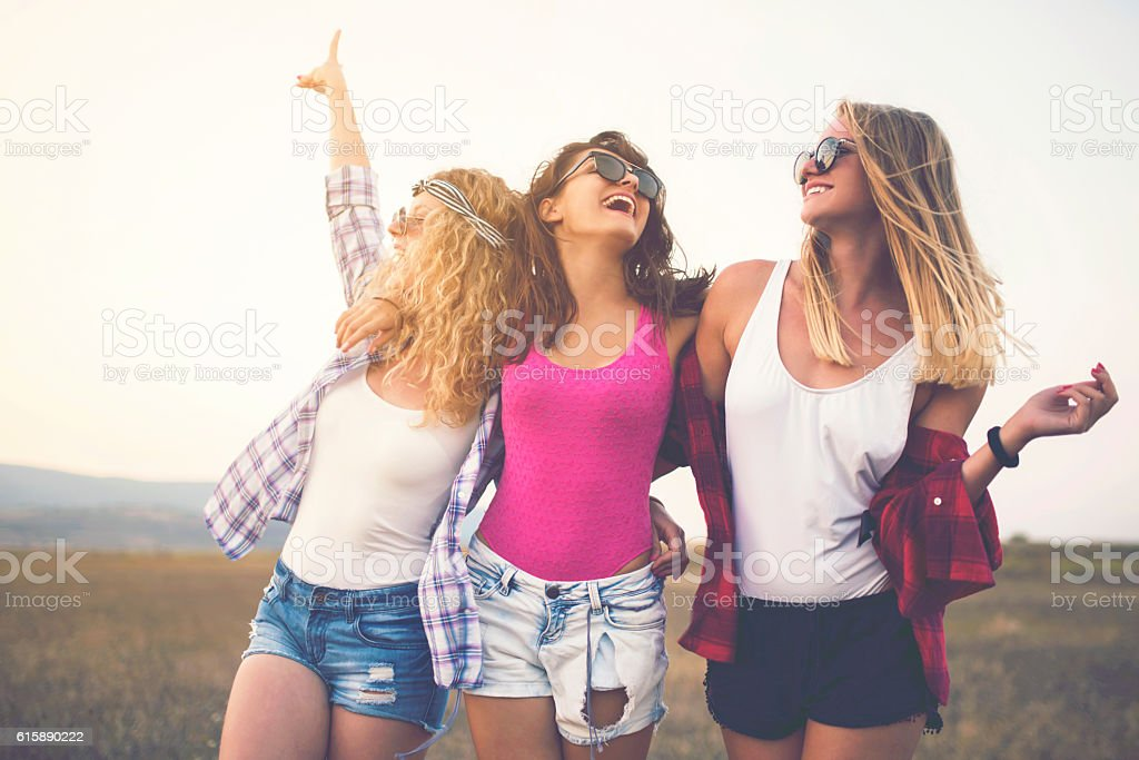 Girl Gang stock photo