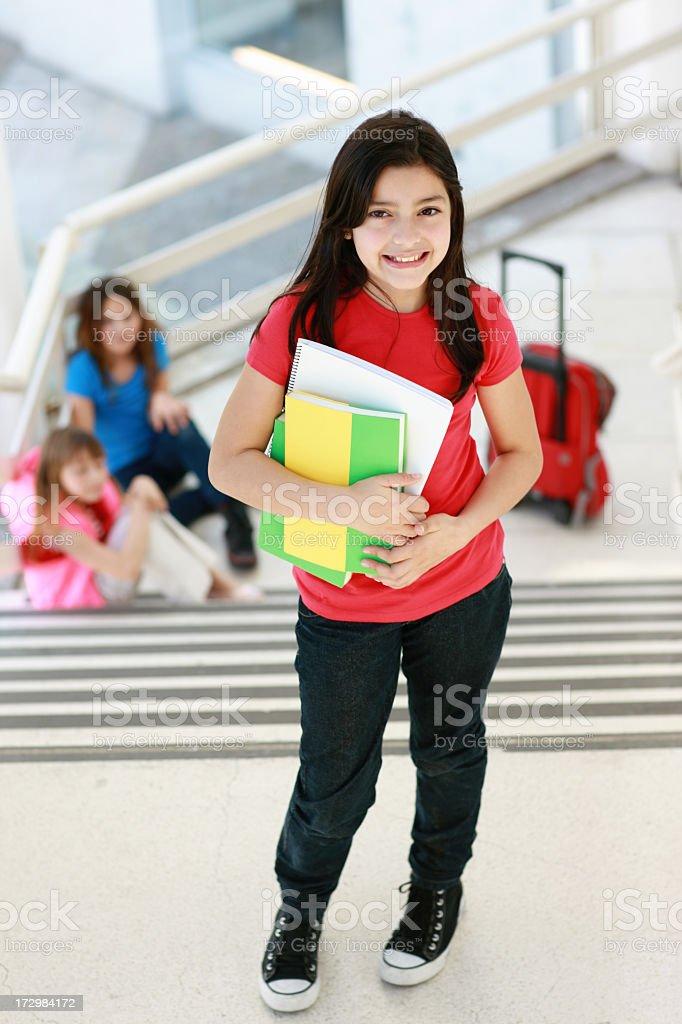 girl go to school royalty-free stock photo