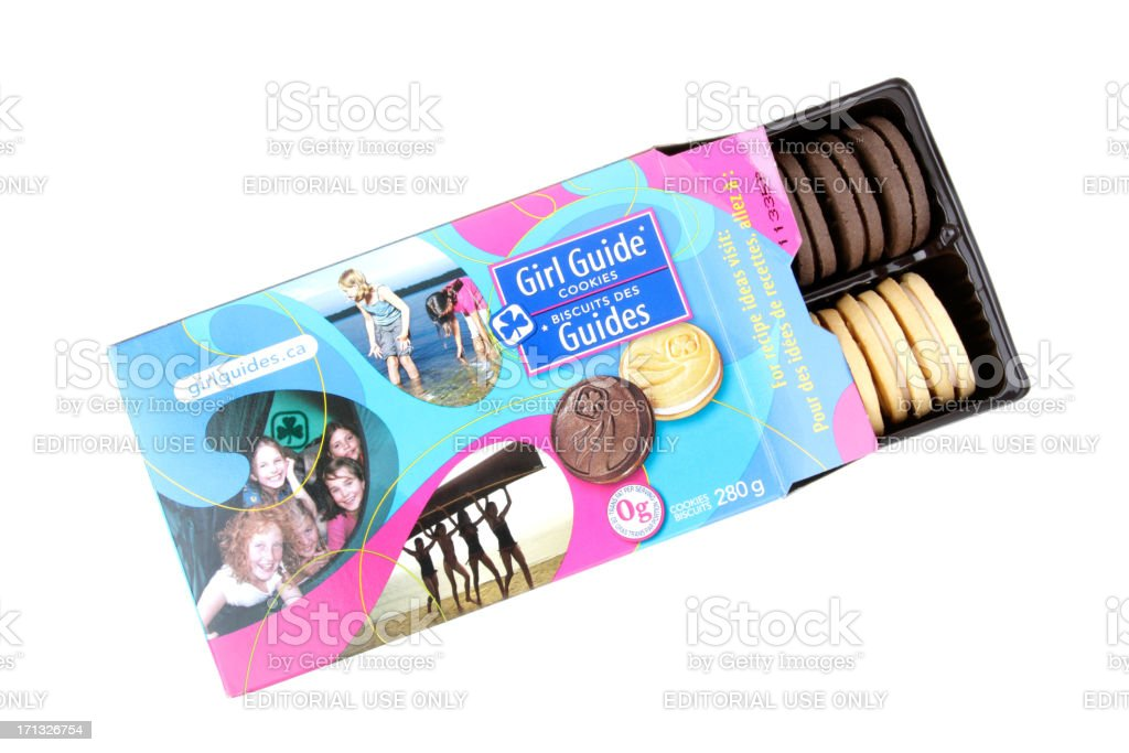 Girl Guide Cookies stock photo