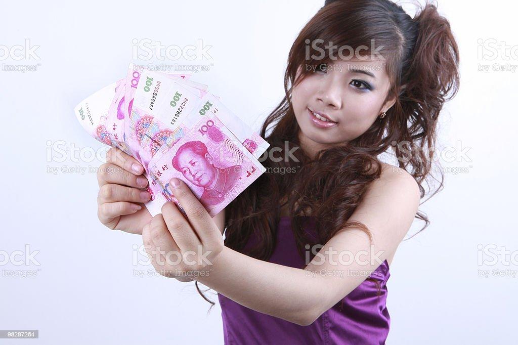 Ragazza Mano che tiene il RMB foto stock royalty-free