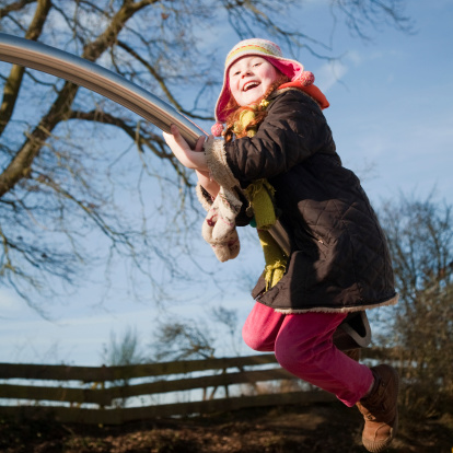 Girl Having Fun At The Playground Stock Photo - Download Image Now