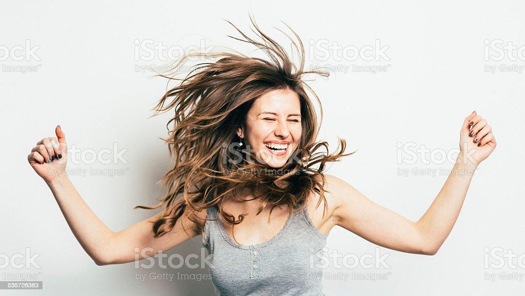 Chica divirtiéndose - foto de stock