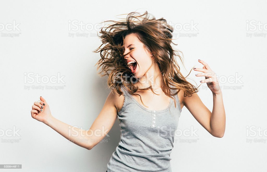 girl having fun stock photo