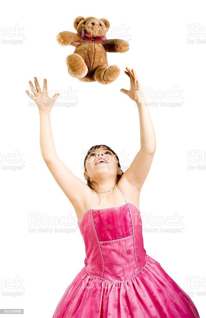 Girl Having fun royalty-free stock photo