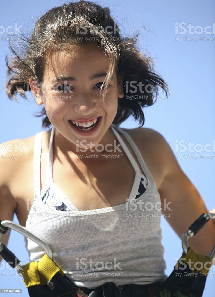 Girl having fun - Royalty-free Amusement Park Ride Stock Photo