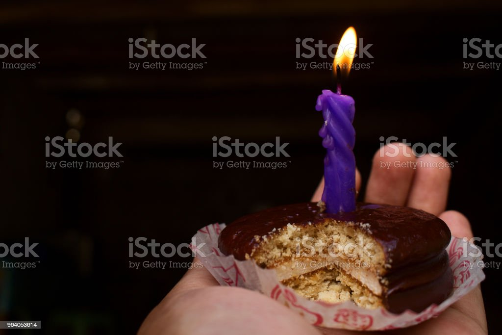 Girl Hold Cutting Chocolate Cake - Royalty-free Adult Stock Photo