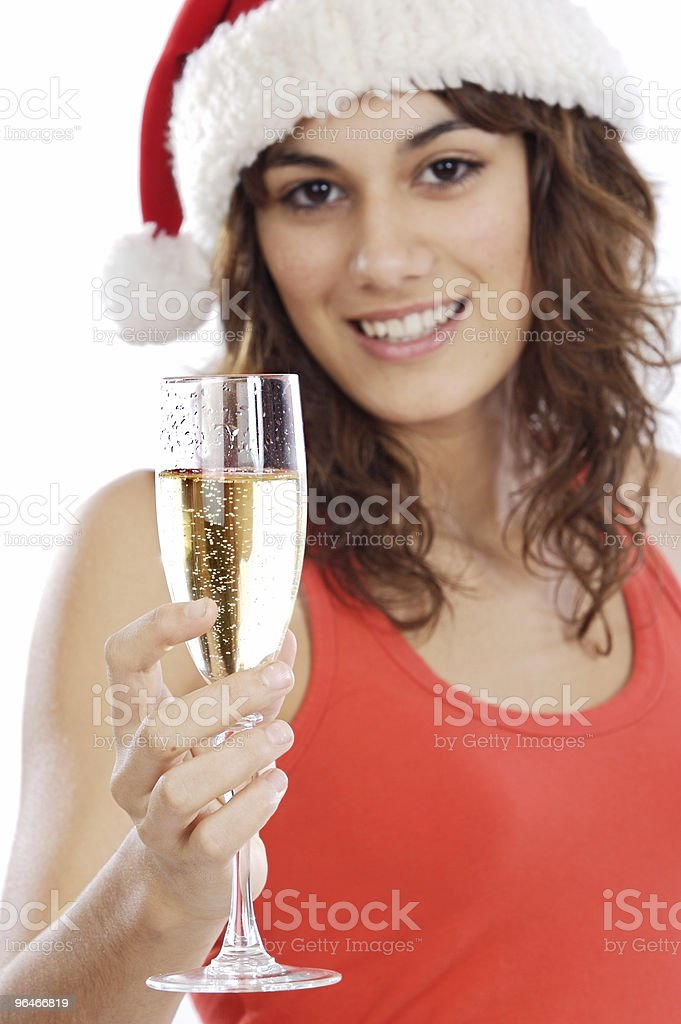 girl holding a glass of champagne royalty-free stock photo