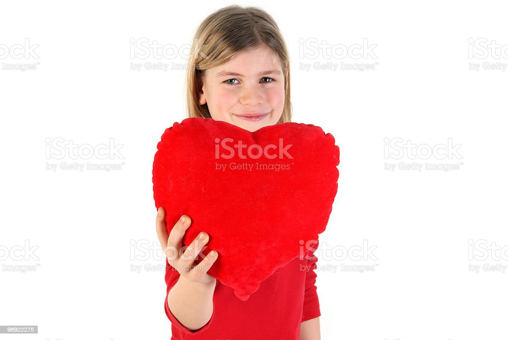 Girl holding the heart royalty-free stock photo