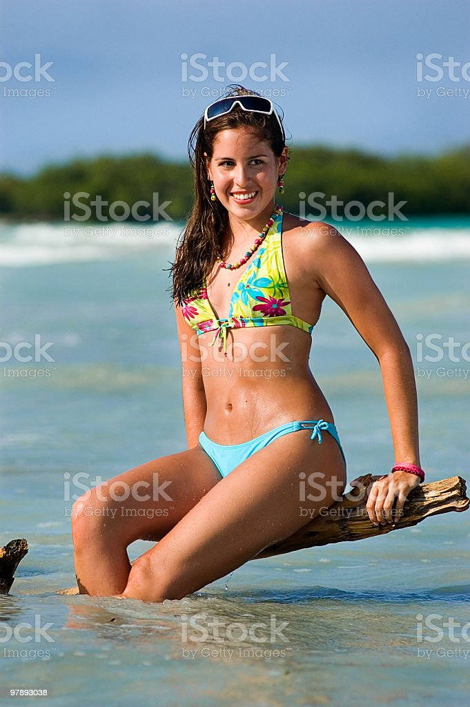Girl in a beach royalty-free stock photo