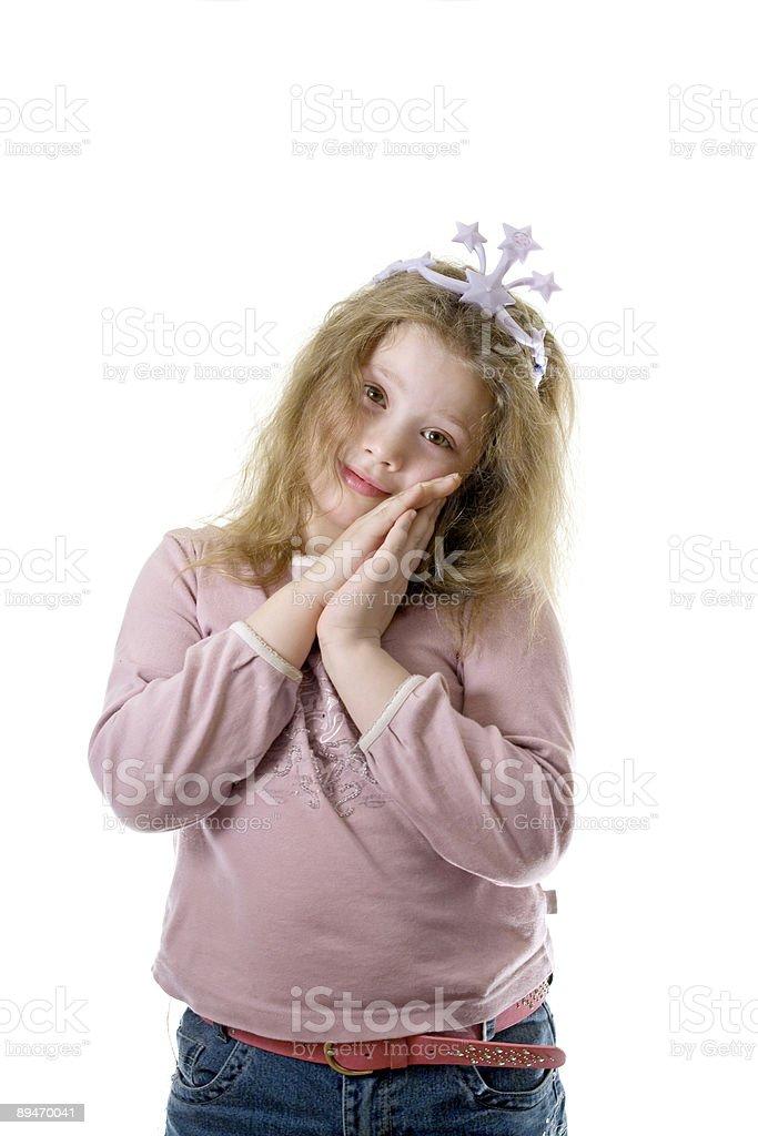 Chica en una corona foto de stock libre de derechos