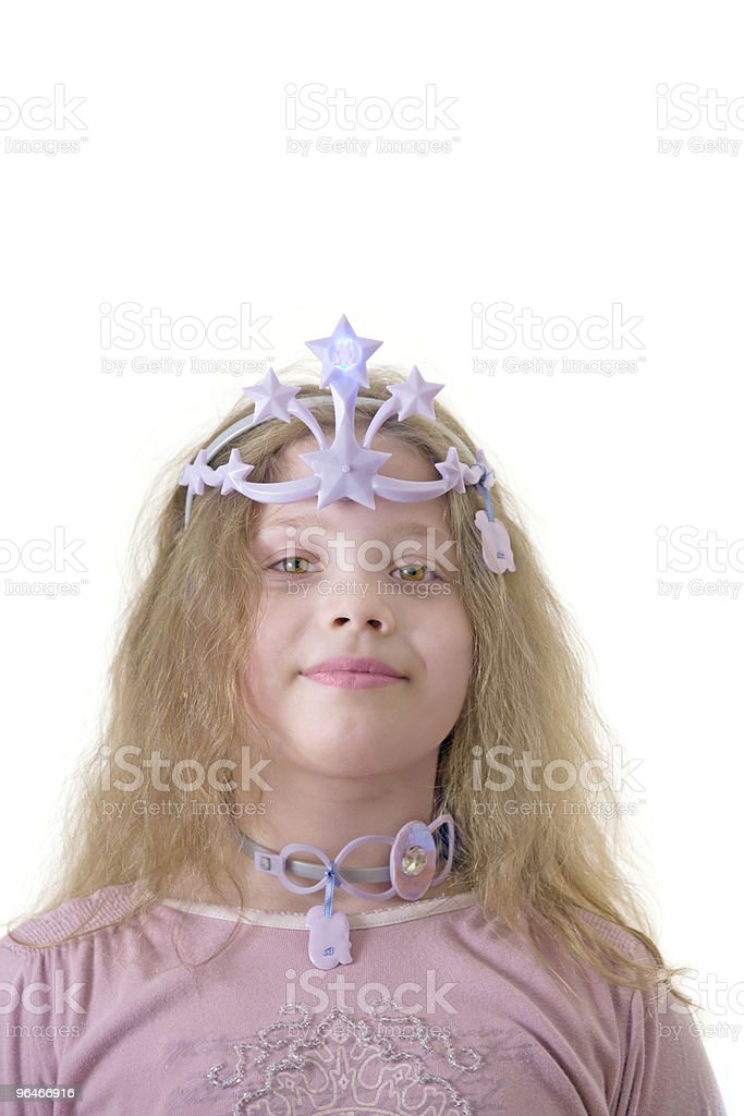 Girl in a crown royalty-free stock photo