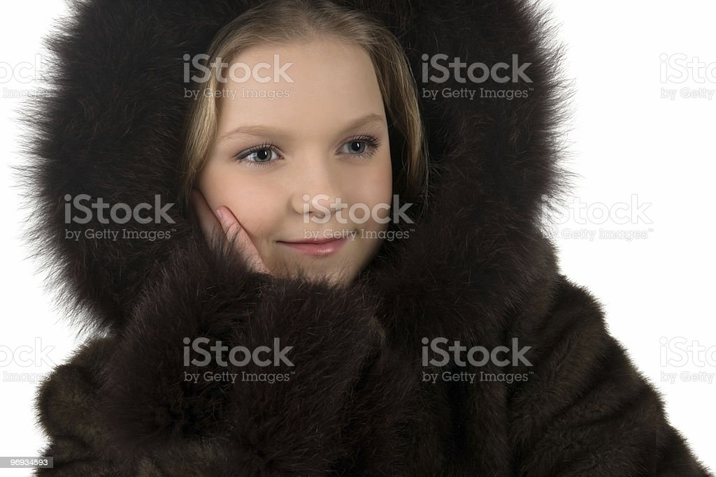 Girl in a hood royalty-free stock photo