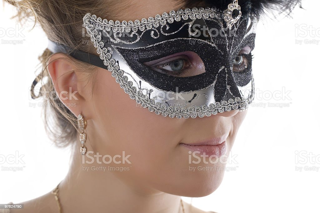 girl in a mask royalty-free stock photo