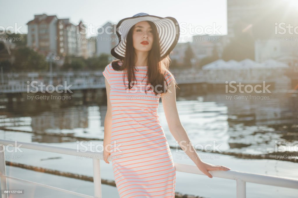 girl in a pink dress royalty-free stock photo