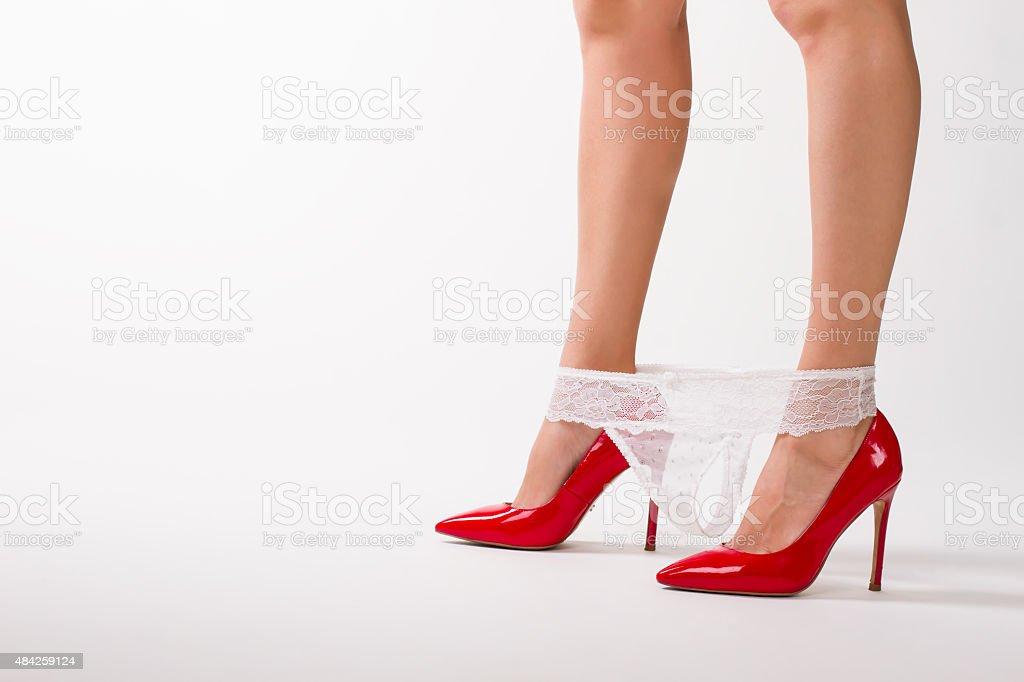 Sexy En Et Rouge De Fille Robe Photo Libre Droit Chaussures 0N8nvmw