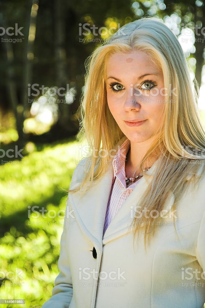Girl in a wood royalty-free stock photo