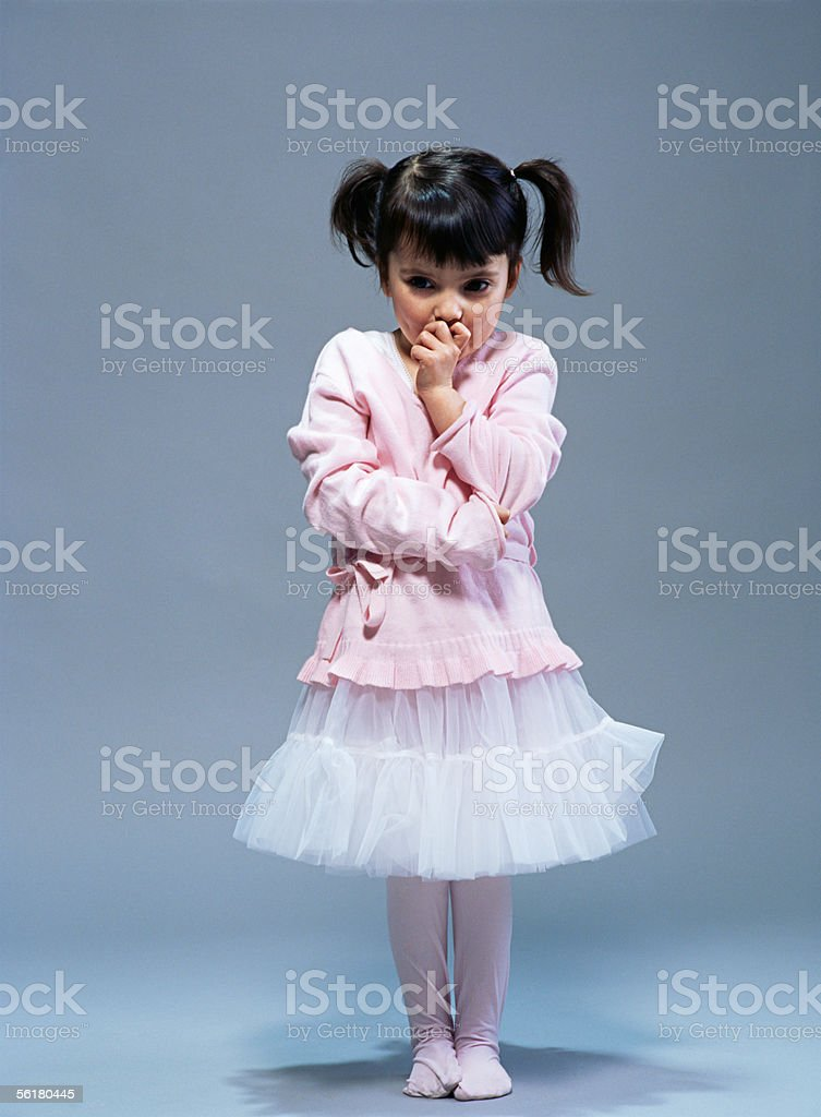 Girl in ballet clothes royalty-free stock photo