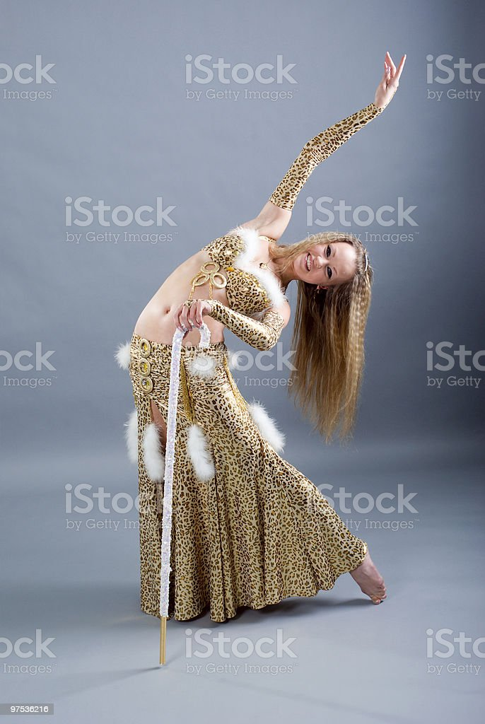 girl in belly dance dress royalty-free stock photo