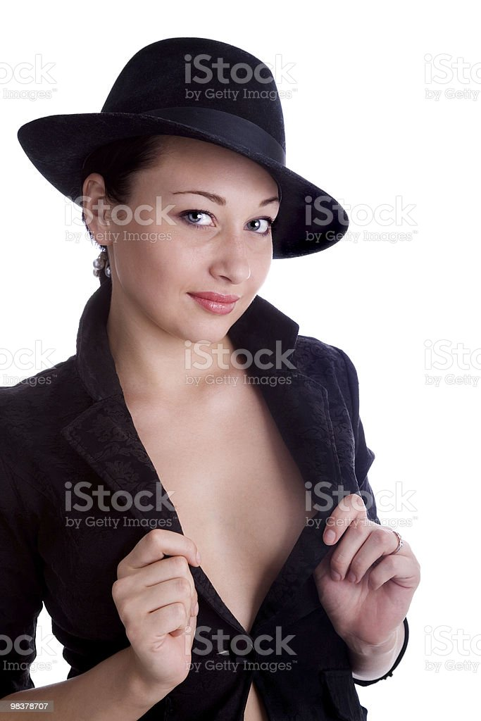 girl in black jacket royalty-free stock photo