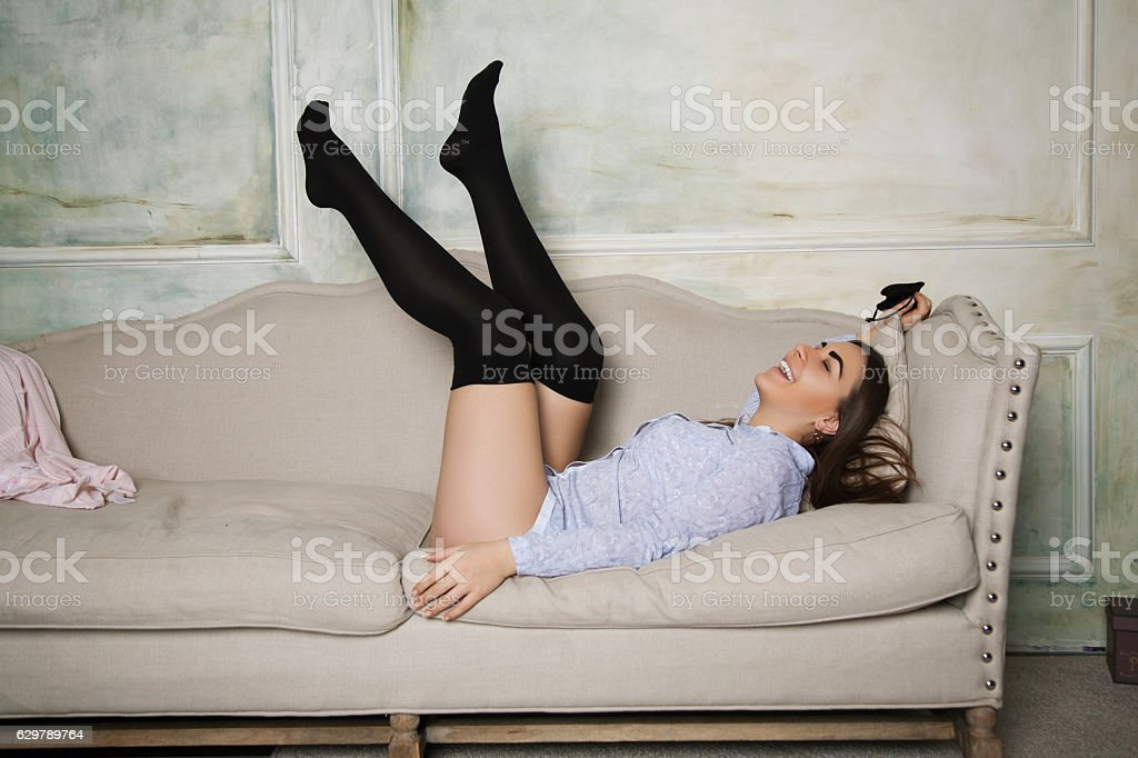 Astounding Girl In Black Stockings Stock Photo Download Image Now Cjindustries Chair Design For Home Cjindustriesco