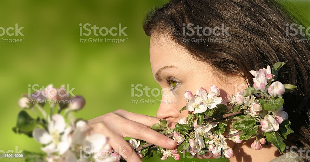 Girl in blossom 06 royalty-free stock photo